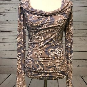 CAbi Tops - Cabi Small Long Sleeve Ruched Tunic Top Cowl Neck